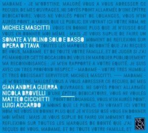 Quartetto Vanvitelli – Michele Mascitti, Sonate a violino e solo e basso / Opera ottava